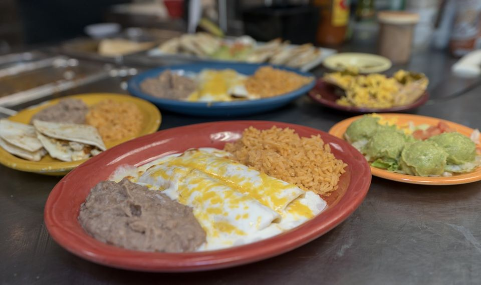 Several tex-mex dishes